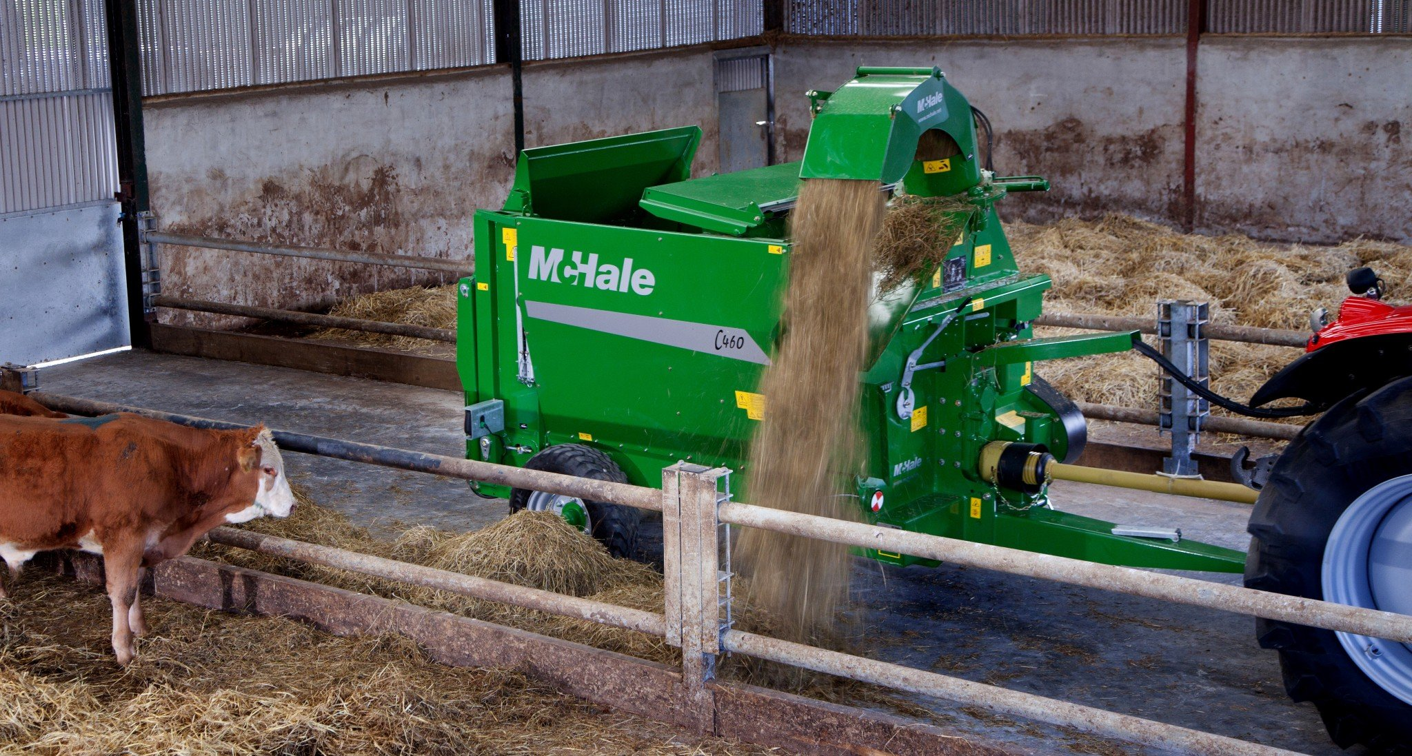 McHale English – C460-Trailed Silage Feeder and Straw Blower