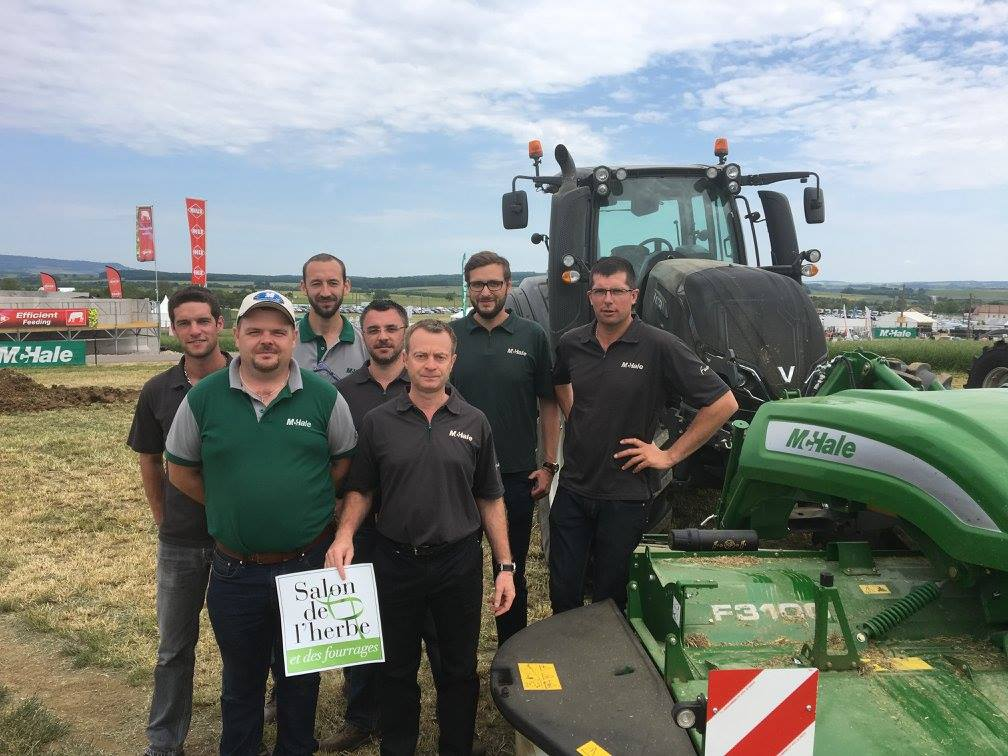The McHale Team with the Sterenn Equipment Team at Salon de L'Herbe.