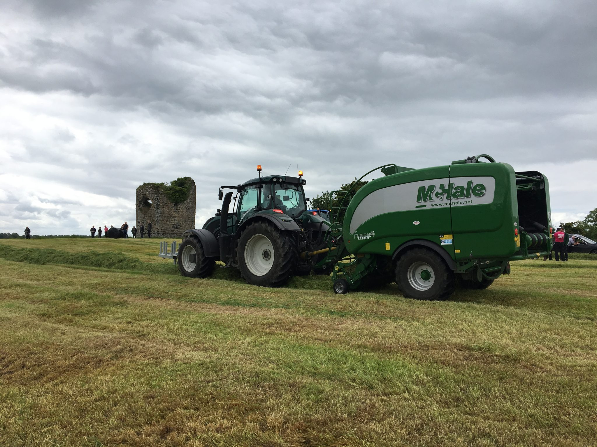 McHale Fusion 3 Plus at work on the 32 County Bale Challenge