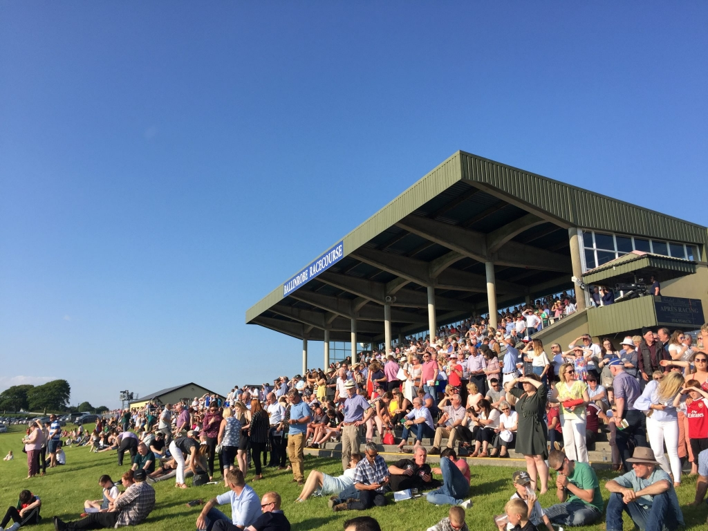 Large crowds watch on at at McHale Race Day